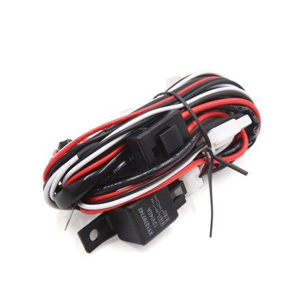10FT 12V 40A H11 Fog Light 2  Fuse Relay Wiring Harness Kit for Off Road Car