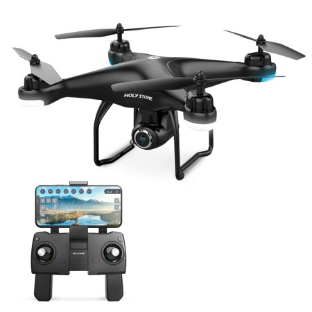 Holy Stone HS120D FPV Drone with Camera for Adults 1080p HD Live Video and GPS Return Home, RC Quadcotper Helicopter for Kids Beginners 18 Min Flight Time Long Range with Follow Me Selfie