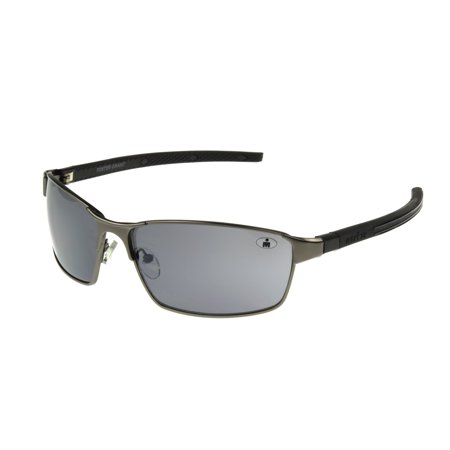 IRONMAN Men's Gunmetal Oval Sunglasses (Oval Sunglasses For Men)