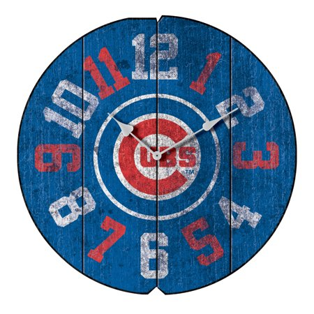 Chicago Cubs Vintage Round Clock - No Size
