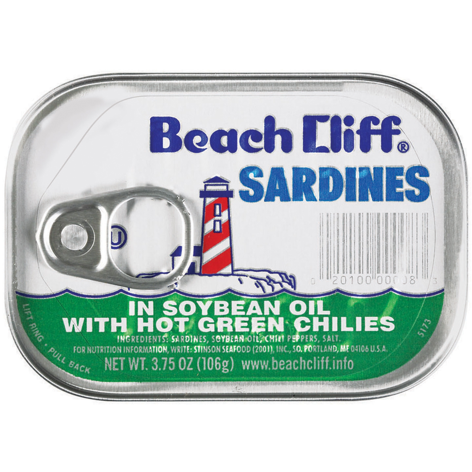 Beach Cliff: Sardines with Chilies 3.75oz by Bumble Bee Foods, LLC