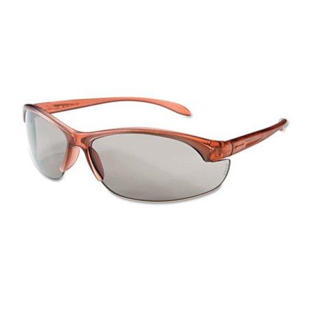 Sperian Protection Americas W203 Women`s Eyewear, Dusty Rose Frame, TSR-Gray Anti-Scratch Lens, One Size, 10/Box