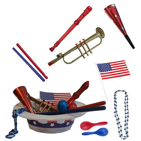 4th of July Parade Pack for Kids - Music & Fun Pack B1 (Fourth Of July Crafts For Kids)