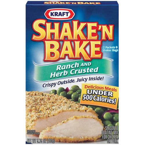 Kraft Shake 'n Bake Seasoned Coating Mix Ranch & Herb Crusted 2 Pk w/Shaker Bag, 5.75 Oz