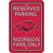 NCAA Arkansas Razorbacks Parking Sign
