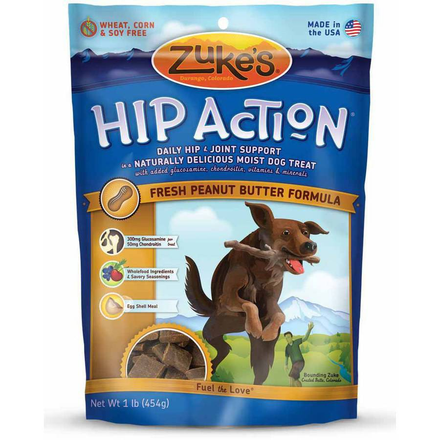 Zuke's Hip Action Natural Dog Treats, Peanut Butter