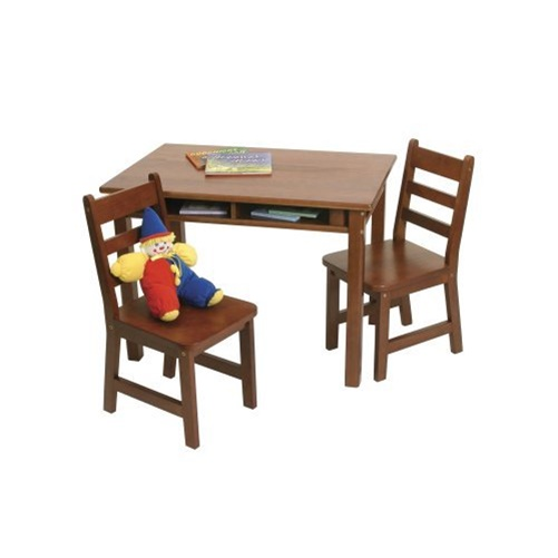 Lipper Rectangular Childrens Table and Chair Set - Cherry