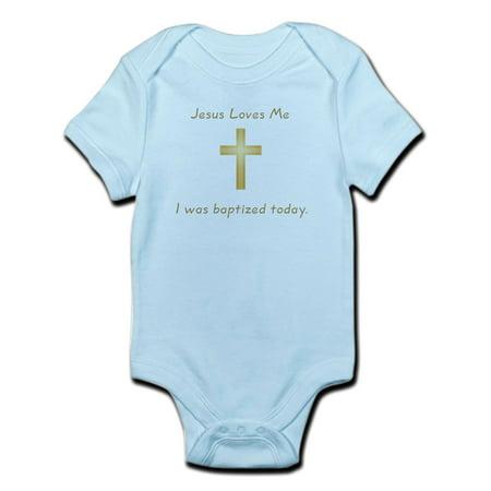 CafePress - Baptism Gift Infant Bodysuit - Baby Light Bodysuit