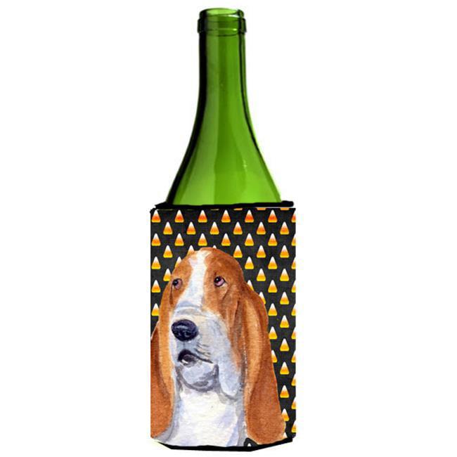 Basset Hound Halloween Portrait Wine Bottle  Hugger - 24 oz. - image 1 de 1
