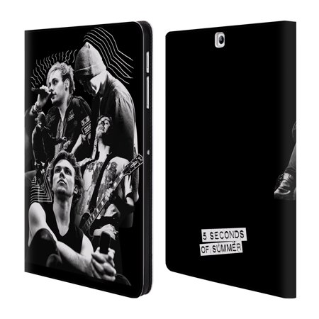OFFICIAL 5 SECONDS OF SUMMER POSTERS LEATHER BOOK WALLET CASE COVER FOR SAMSUNG GALAXY TABLETS