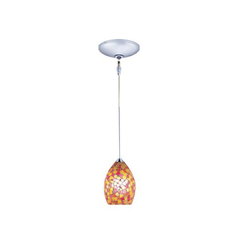 Jesco Lighting KIT-QAP232-CH-B Moz 1 Light Low Voltage Mini Pendant with Canopy