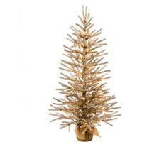 "Vickerman 30"" Mocha Artificial Christmas Tree with 35 Warm White LED Lights"