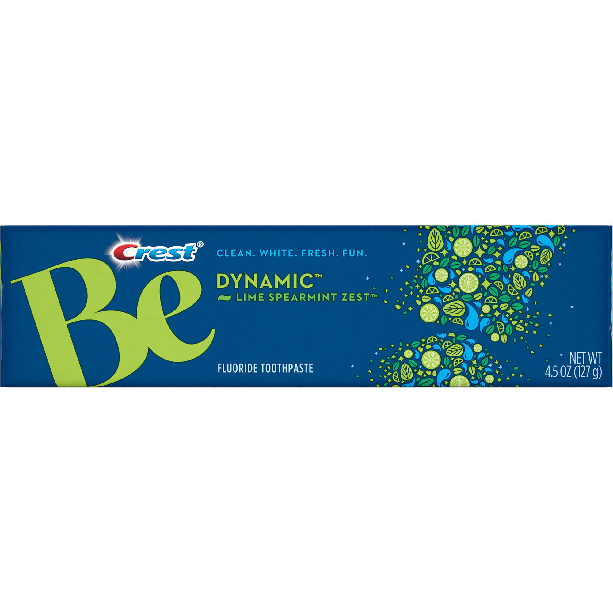 Crest Be Dynamic Lime Spearmint Zest Flavor Toothpaste, 4.5 oz