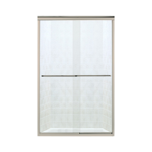"""Sterling 5475-59DR-G03 Finesse 54.625""""-59.625""""W x 70.0625""""H Frameless Sliding Shower Door, Available in Various Colors"""