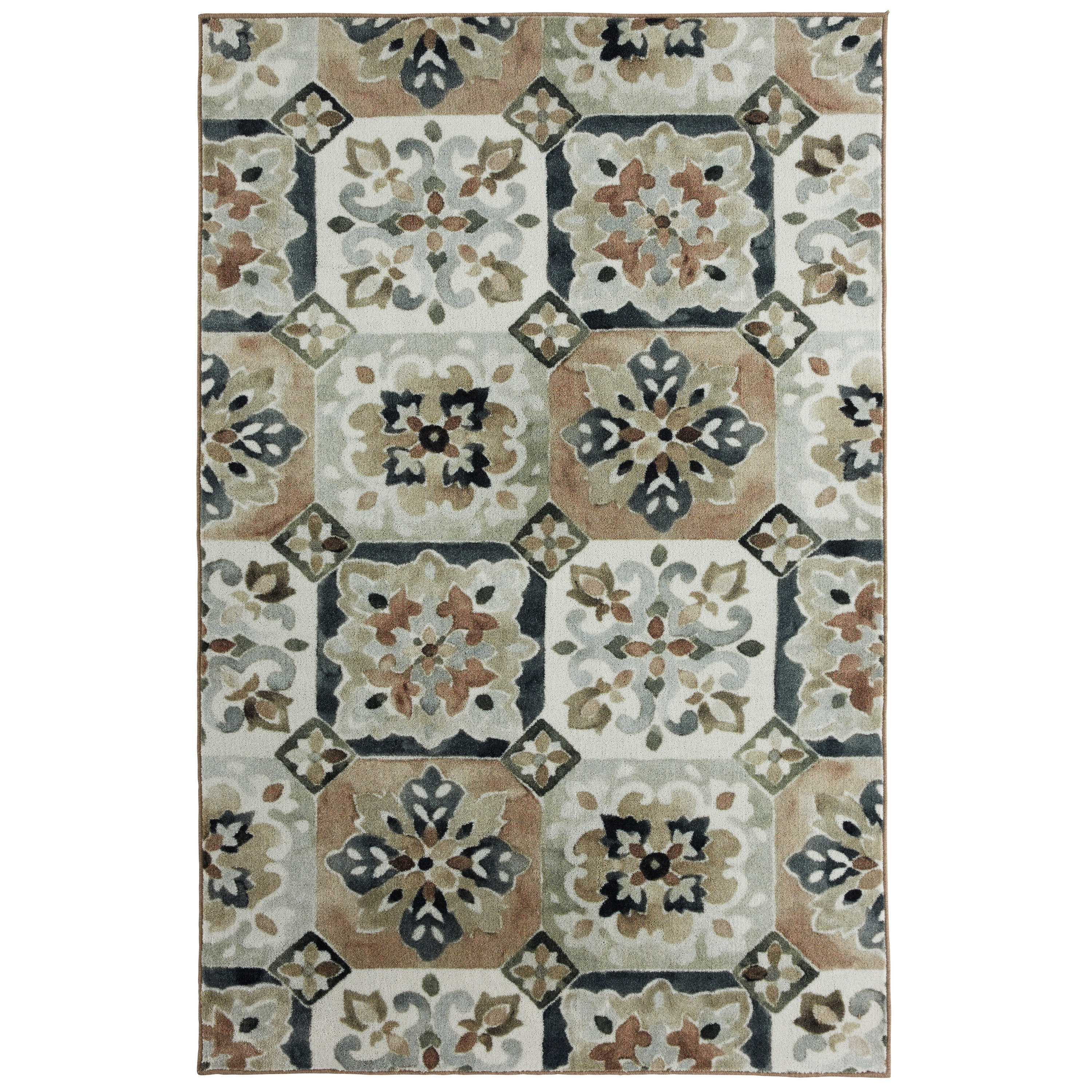 Mohawk Home  Prismatic Painted Tile Multicolor Moroccan Area Rug (8' x 10') - 8' x 10'
