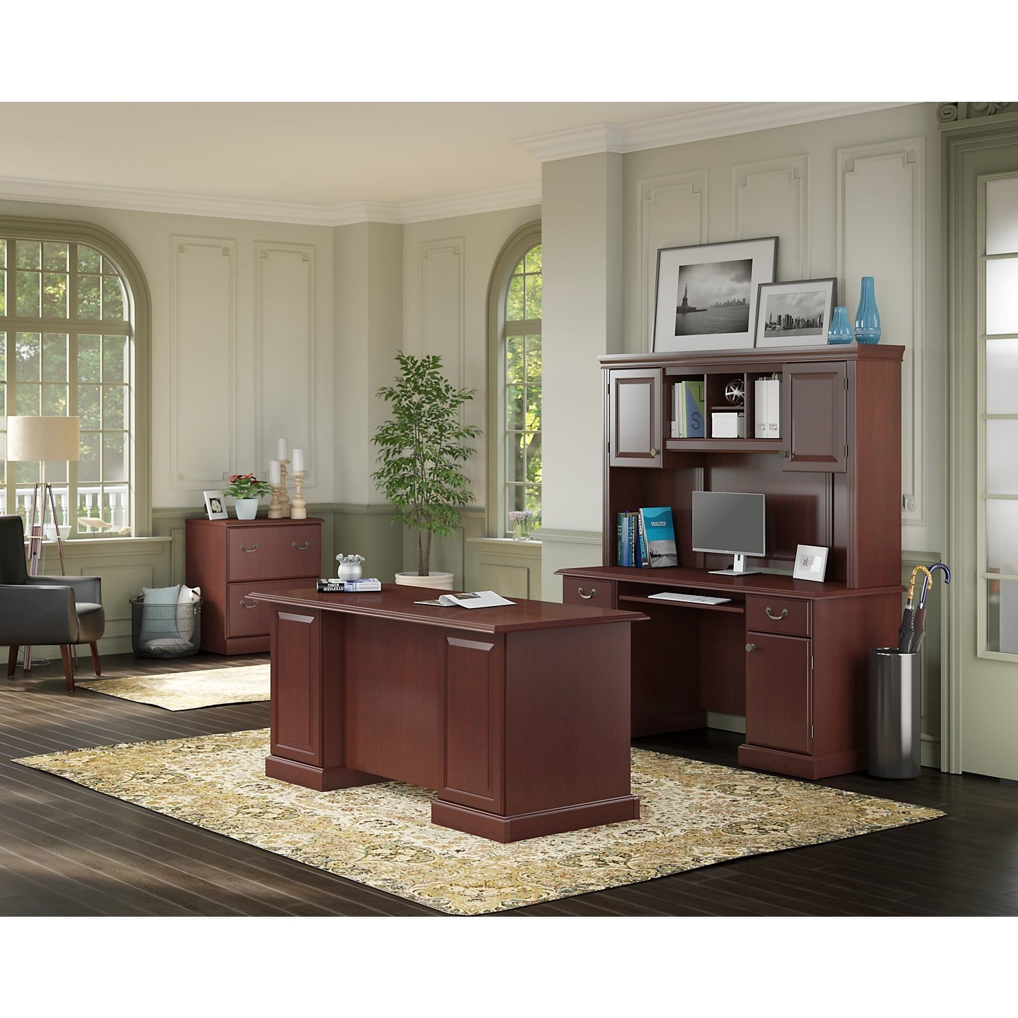 Kathy Ireland By Bush Kathy Ireland® Office By Bush Furniture Bennington  Manageru0027s Desk, Credenza
