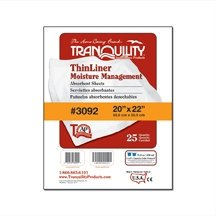 Tranquility ThinLiner Absorbent Sheets  20'' x 22'' Package of 25 Incontinence Bed Sheets