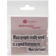 """Woodware Clear Stamps 2.5""""X1.75""""-What People Really Need"""