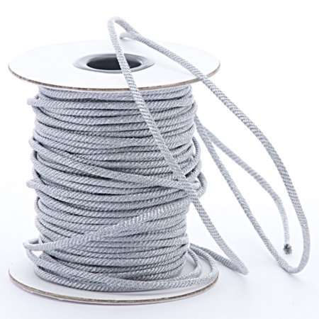 - 3mm X 40 Yards Silver Tight Braided Cord by Paper Mart
