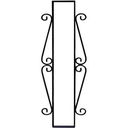 Wrought Iron House Number Vertical Frame Mission 4-Tiles Atlas Mission House Numbers