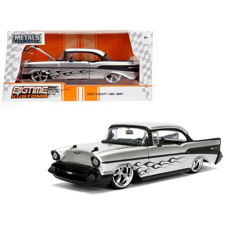 Bigtime Kustoms Series: 1957 Chevy Bel Air (Silver) 1/24 Scale