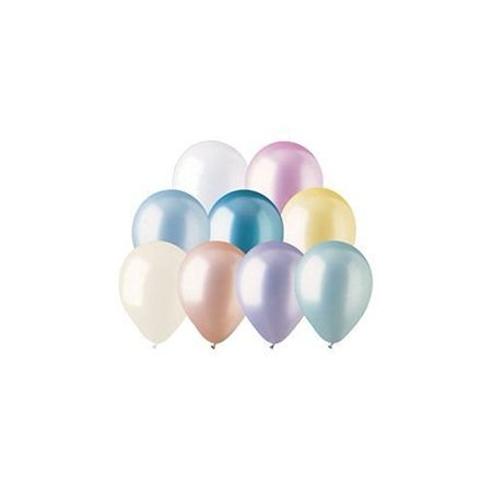 100 Helium Balloons (Helium Quality Latex Balloons Pearl Assortment 100 per)