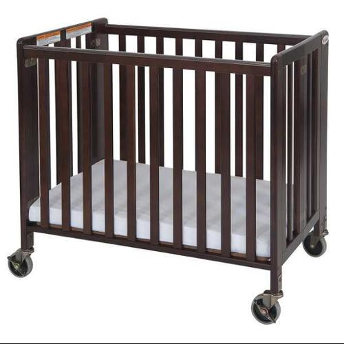 FOUNDATIONS 1031852 Folding Crib, Cherry, 2 In Mattress