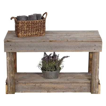 Super Del Hutson Reclaimed Wood Entry Bench Machost Co Dining Chair Design Ideas Machostcouk