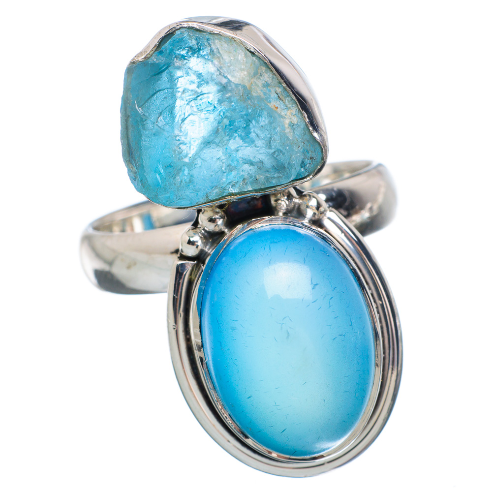 Ana Silver Co Aqua Chalcedony, Apatite Ring Size 8.25 (925 Sterling Silver) Handmade Jewelry RING889977 by Ana Silver Co.