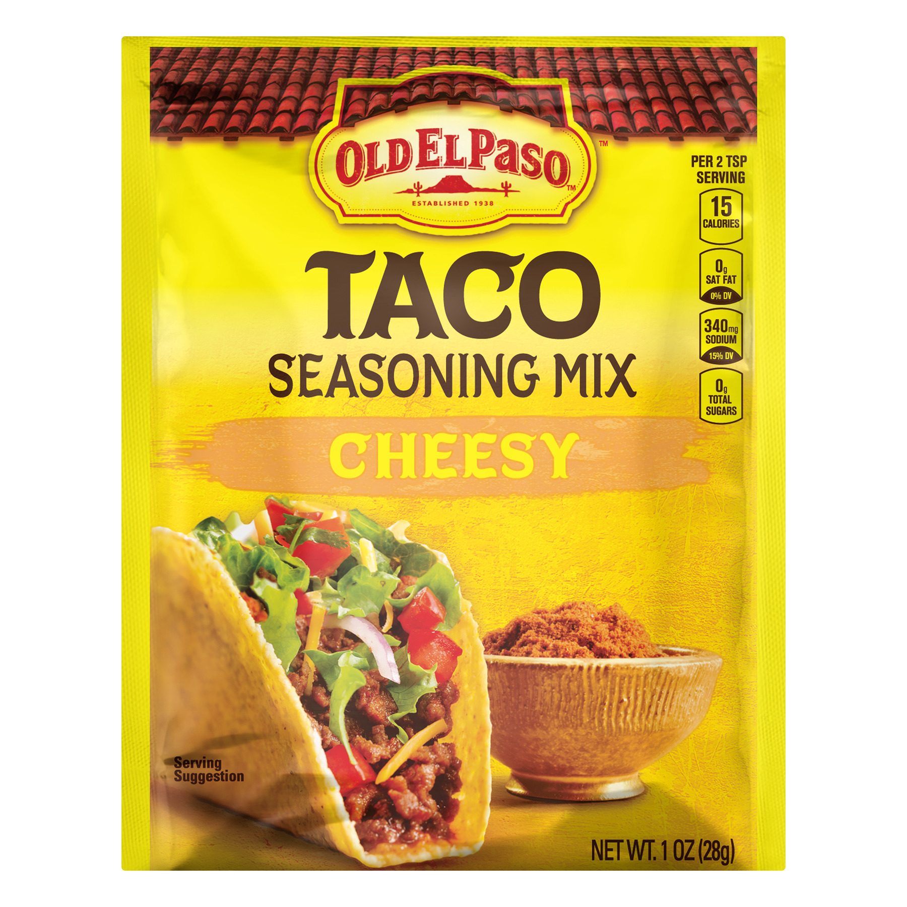 Old El Paso Cheesy Taco Seasoning Mix, 1 oz Packet
