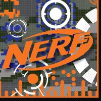 Nerf Party Paper Luncheon Napkins, 6.5 in, 16ct