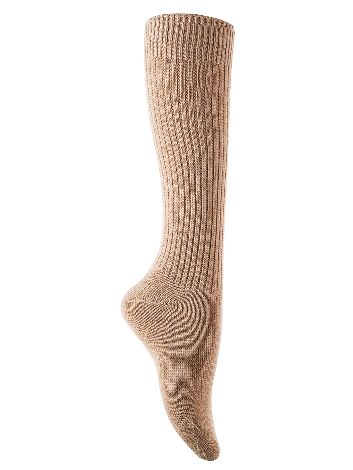 Lian Style Big Girl's 2 Pairs Knee-high Knitted Wool Socks stripped FS05 Size XL(Beige)