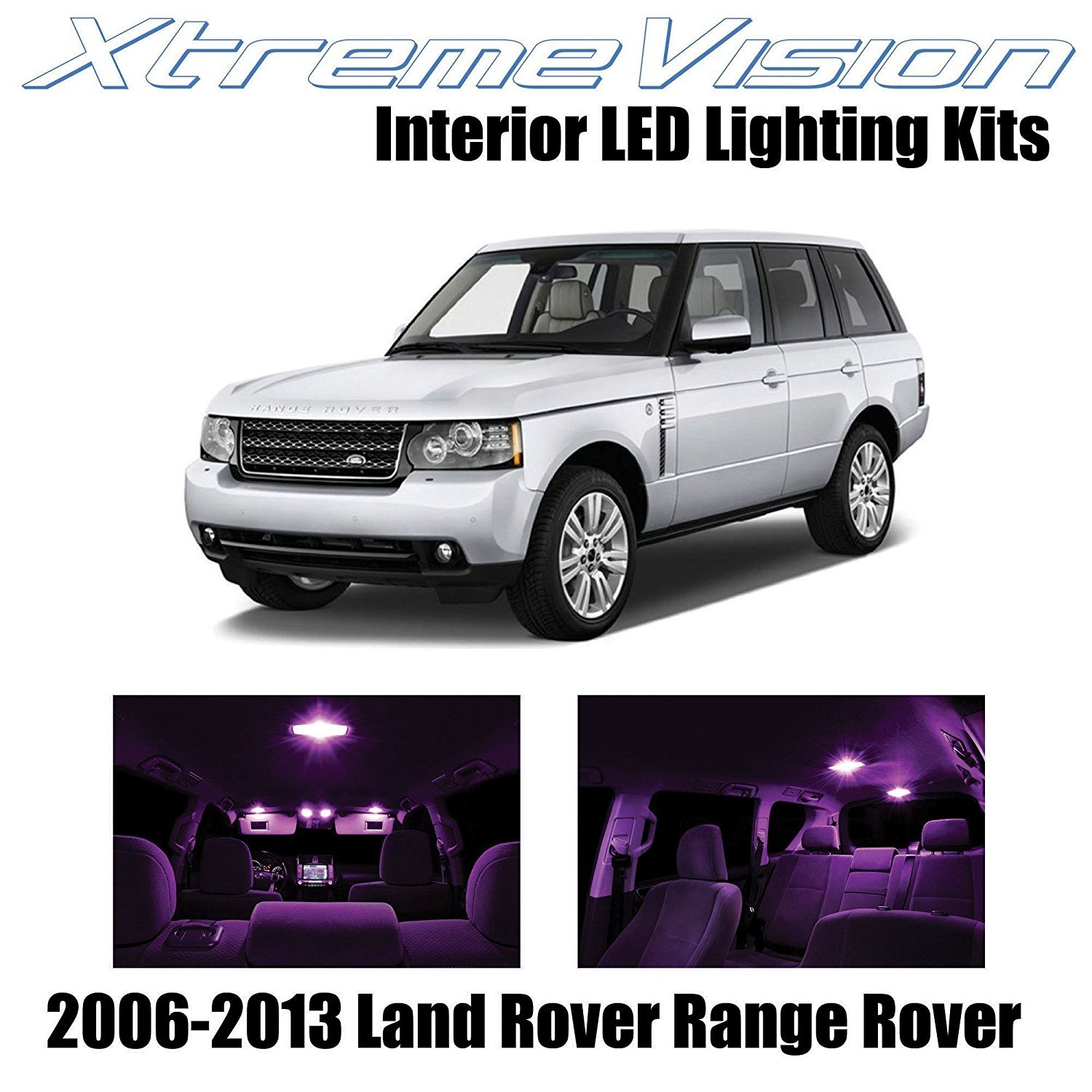 XtremeVision LED for Land Rover Range Rover 2006-2013 (14 Pieces) Green Premium Interior LED Kit Package + Installation Tool