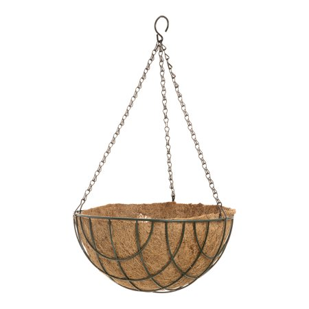 Spring Hanging Wire Basket with Coco Liner: 12 inches