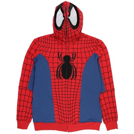 Marvel Spider-Man Civil War Comic Costume Full Zip Hoodie