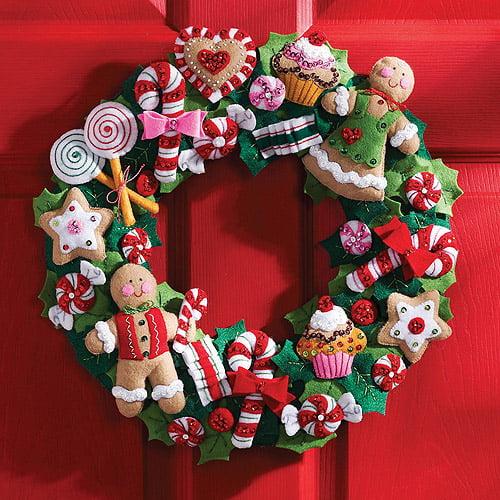 Bucilla Felt Wreath Kit, Cookies and Candy