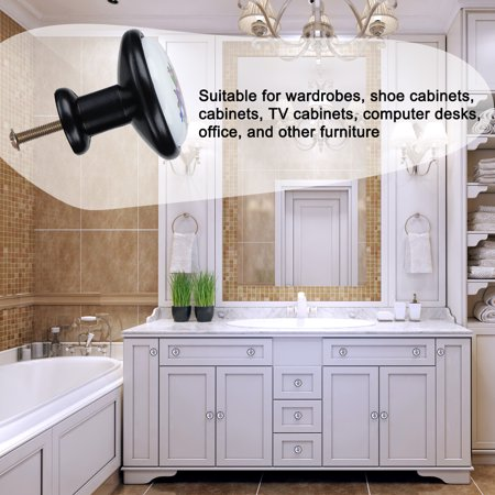 Ceramic European Modern Knobs Handle Cupboard Wardrobe Kitchen Cabinet 8pcs #2 - image 4 of 7