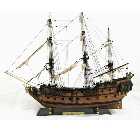 DIY 1: 96 Scale 3D Wooden Sailboat Ship Kit Home Model Decoration Boat Kids Children Christmas Gift (Not Include Ropes and Sails) (3000 Scale Ships)