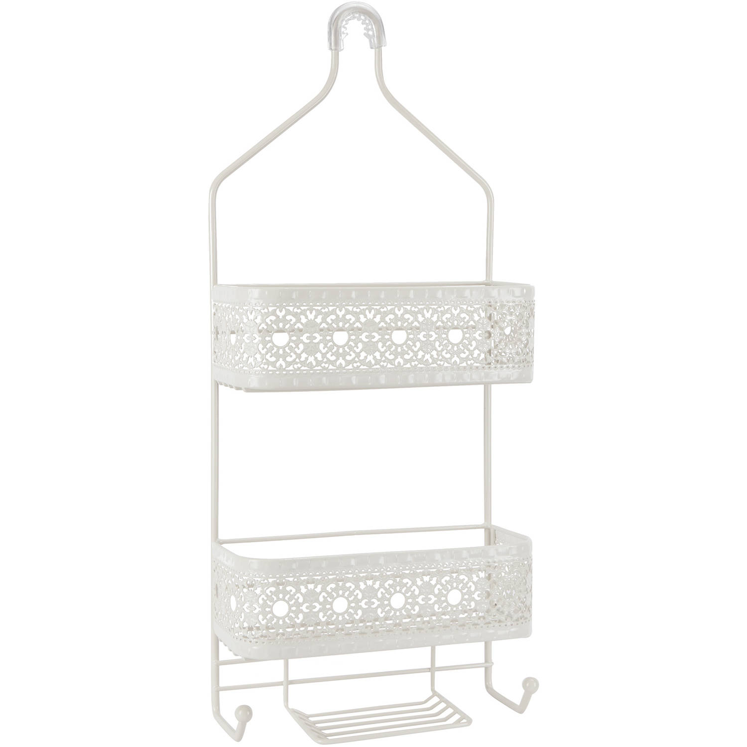 Chapter Filigree Bathroom 2-Shelf Shower Caddy by Cheyenne Products