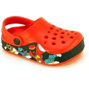 Toddler Boys Red Blue Green Black Ninja Foam Clogs-Red-7
