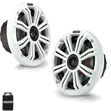 "Kicker 6.5"" White Marine Speakers (QTY 2) 1 pair of OEM replacement speakers"