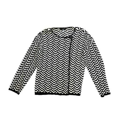 August Silk - Chevron Print One Button Jacket  - Regular - LARGE
