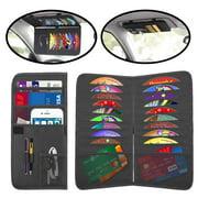 CD Holder Certificate /& Card Holder Black Sun Visor Organizer for Car- Multifunctional Car Visor Organizer- Truck Visor Organizer- Car Storage Accessories with Glasses Holder Purse /& Pen Holder