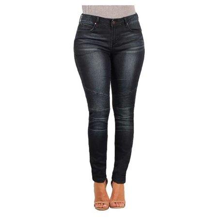 Versace Womens Giuliana Skinny Stretch Moto Jean (Savannah, 29/8) (Versace Jeans Women)
