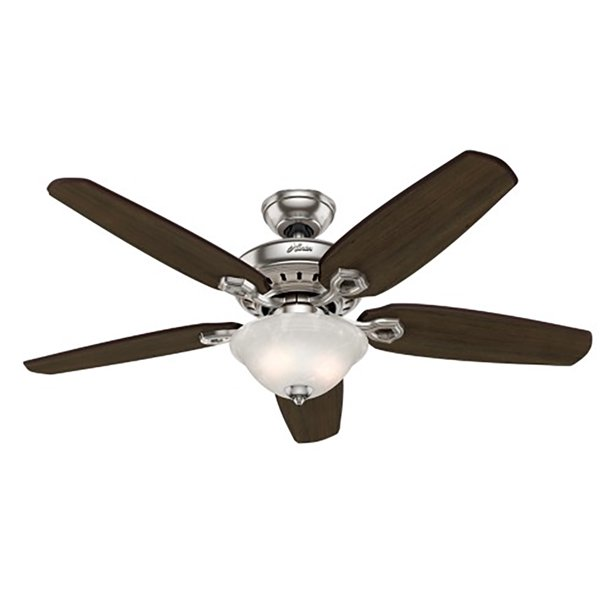 Hunter Fairhaven 52 Inch Indoor Nickel Ceiling Fan With Light Kit Remote Walmart Com Walmart Com