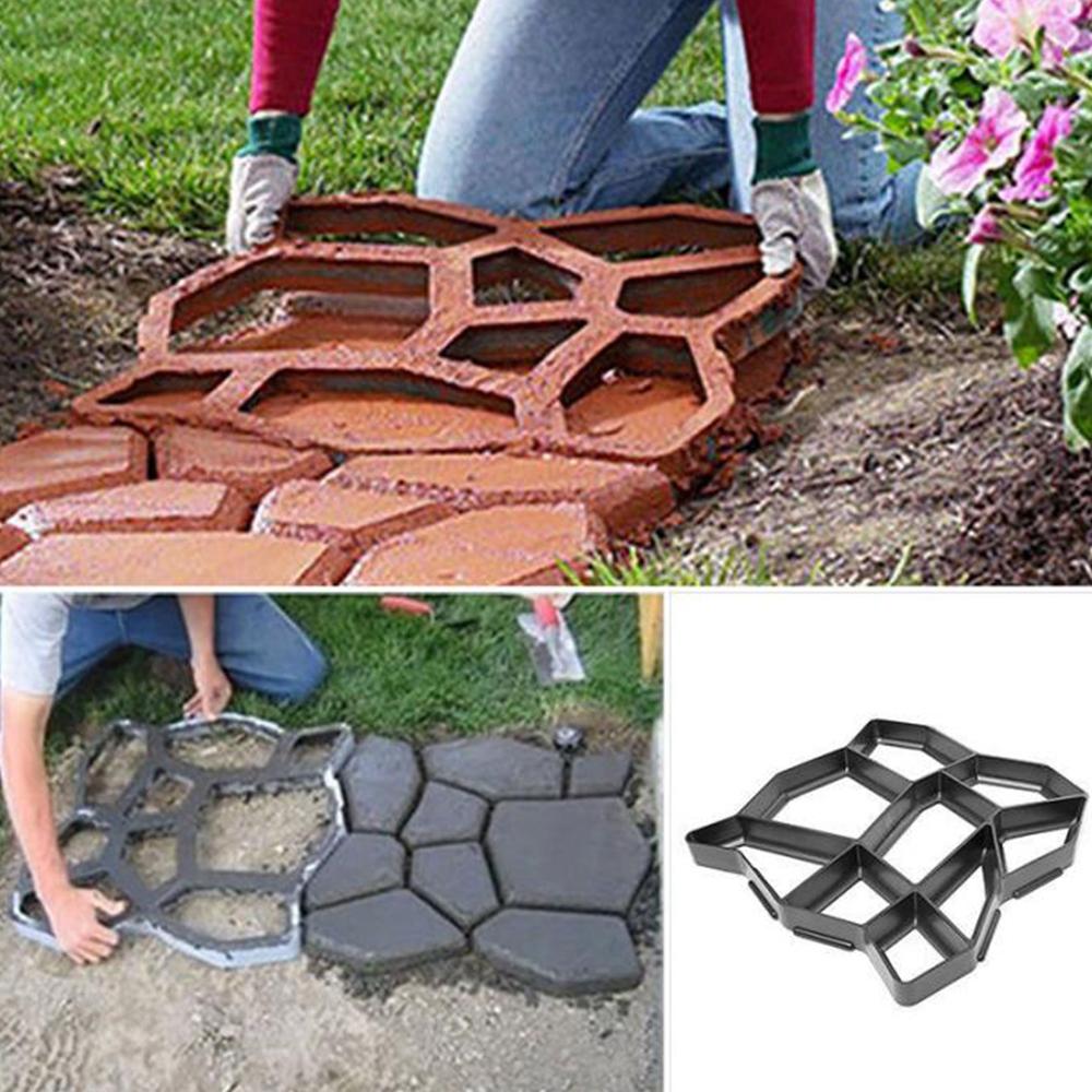 UK Garden Walk Pavement Mold Path DIY Paving Cement Brick Stone Road Paver Maker