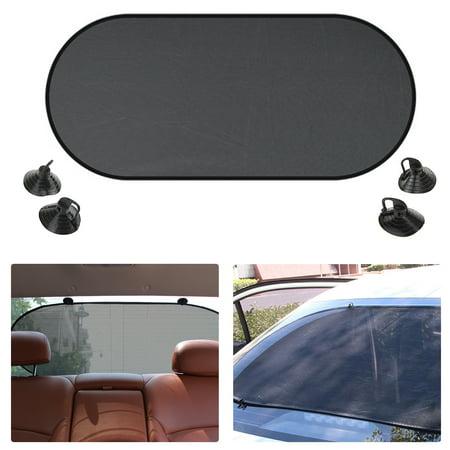 Car Rear Back Window Sun Shade Cover Visor Shield Screen Mesh Block (Shield Tine Rear)