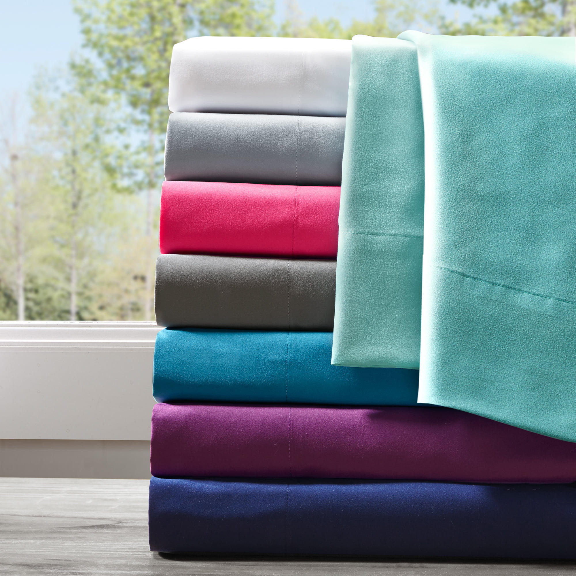 Twin Microfiber All Season Wrinkle-Free Sheet Set Pink