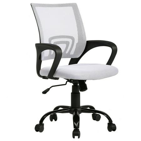 Ergonomic Office Chair Cheap Desk Chair Mesh Executive Computer Chair  Lumbar Support for Women&Men, White