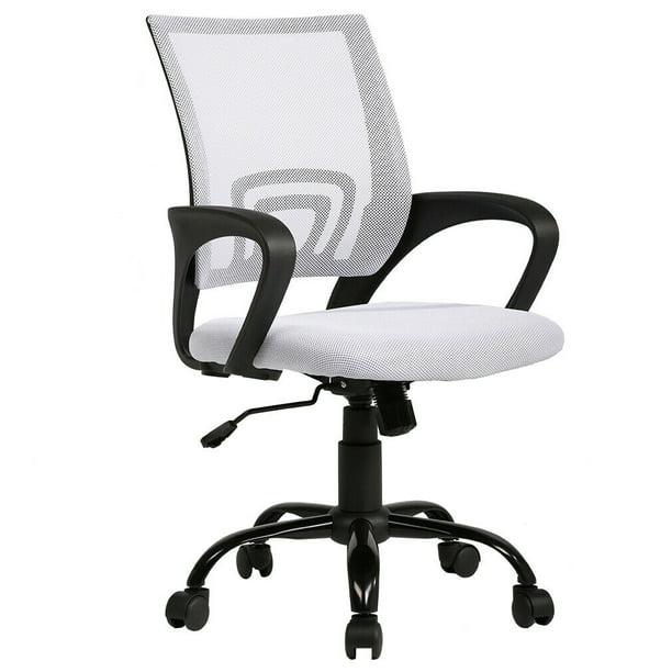 Ergonomic Office Chair Cheap Desk Chair Mesh Executive Computer Chair Lumbar Support For Women Men White Walmart Com Walmart Com
